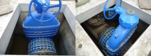 Bigger size rubber wedge gate valves